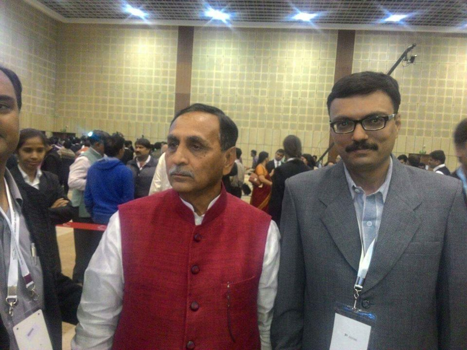 Company CEO Mr. Niraj Vaghela with Honorable Chief Minister of Gujarat Mr. Vijaybhai Rupani