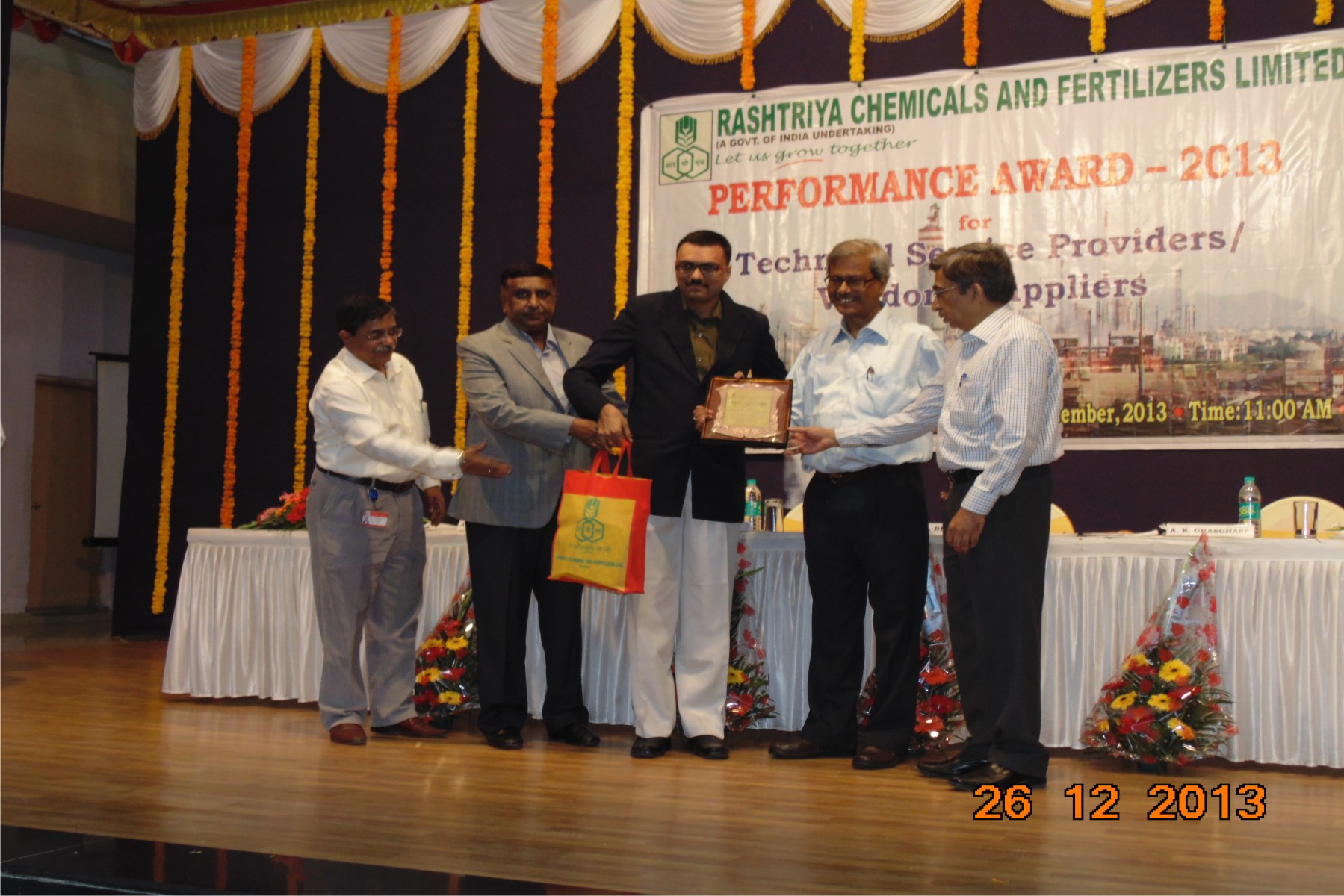 Best Performance Award by Government of India