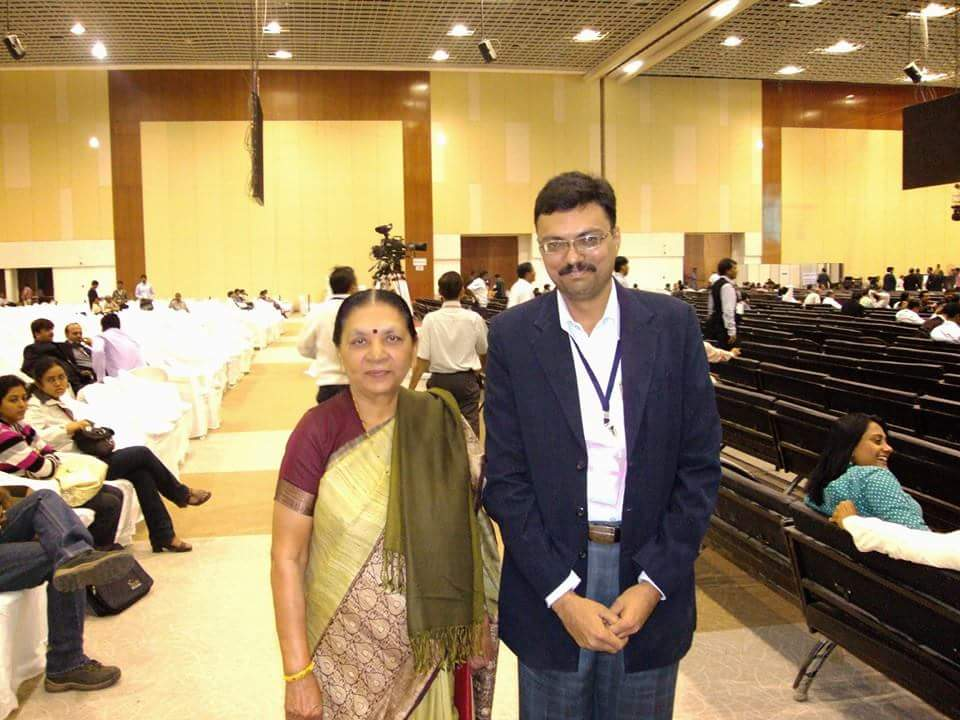 Company CEO Mr. Niraj Vaghela with Honorable Ex Chief Minister of Gujarat Smt. Anandiben Patel